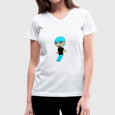 Friendly Guy Shido - Women's V-Neck T-Shirt