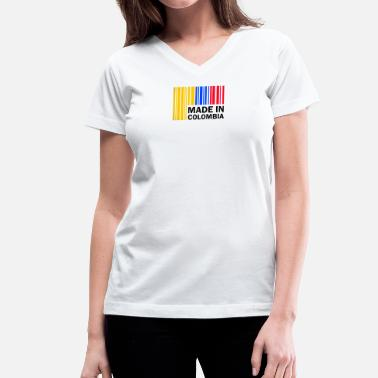 Made In Colombia Made in Colombia - Women's V-Neck T-Shirt