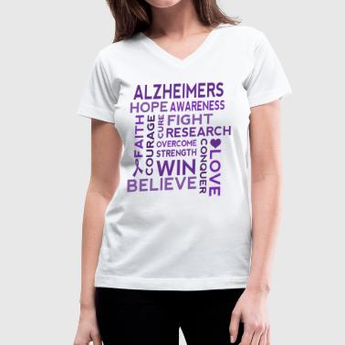 Alzheimers Awareness Walk - Women's V-Neck T-Shirt