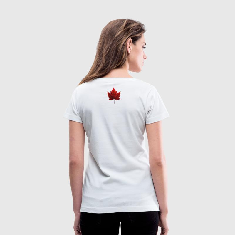 I Love Canada Shirts & Canada Souvenir Gifts - Women's V-Neck T-Shirt