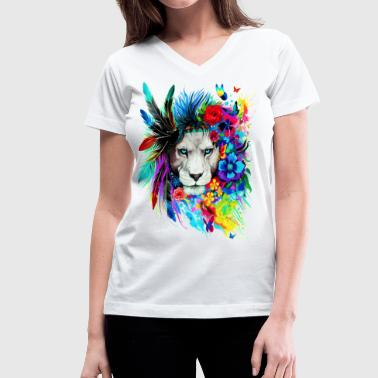 King Leo - Women's V-Neck T-Shirt
