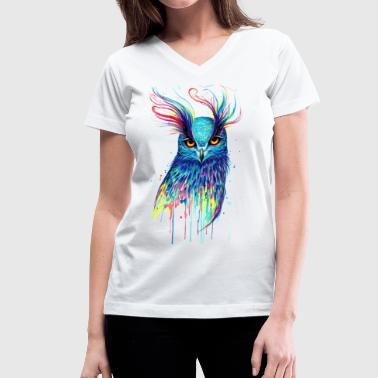 Astral Owl - Women's V-Neck T-Shirt