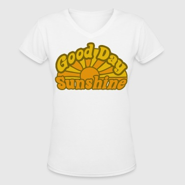 Sunshine Retro - Women's V-Neck T-Shirt