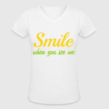 smile - Women's V-Neck T-Shirt