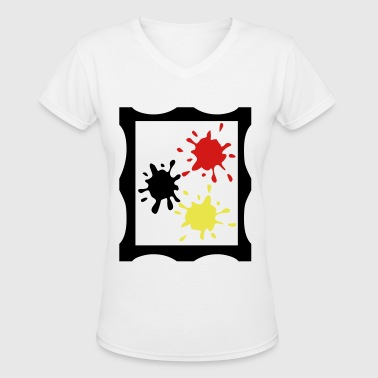 Art painting - Women's V-Neck T-Shirt