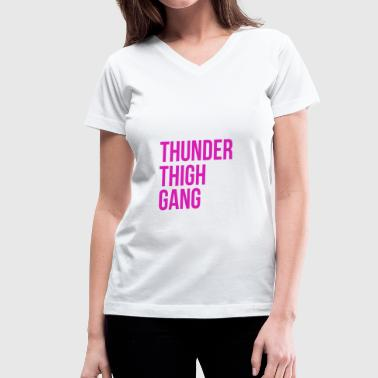 Thunder Thigh T-shirt - Women's V-Neck T-Shirt