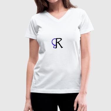 brent rivera logo - Women's V-Neck T-Shirt