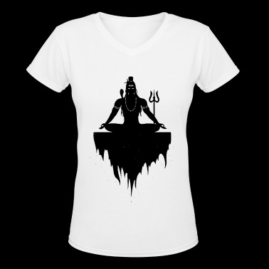 Lord Shiva - Women's V-Neck T-Shirt