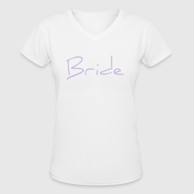 Bride Text Word Graphic Design Picture Vector - Women's V-Neck T-Shirt