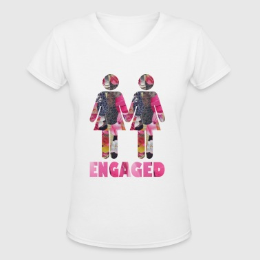 ENGAGED : WOMEN - Women's V-Neck T-Shirt