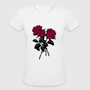 roses - Women's V-Neck T-Shirt