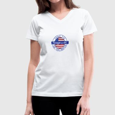 Thank You For Your Service Patriotic Veterans Day - Women's V-Neck T-Shirt