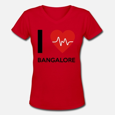 Bangalore I Love Bangalore - Women's V-Neck T-Shirt