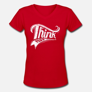 Porn Old Think porn - Women's V-Neck T-Shirt