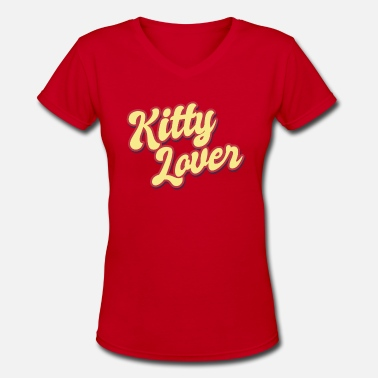 Cats Lover Kitty Lover cat cats - Women's V-Neck T-Shirt