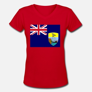 Ascension Saint Helena Ascension and Tristan da Cunha Flag - Women's V-Neck T-Shirt