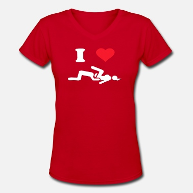 Retro I LOVE SUSHI - Women's V-Neck T-Shirt