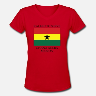 Accra Ghana Accra LDS Mission Called to Serve Flag - Women's V-Neck T-Shirt