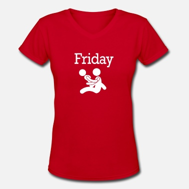 70s In Funny Friday Party Funny Weekend 70 - Women's V-Neck T-Shirt