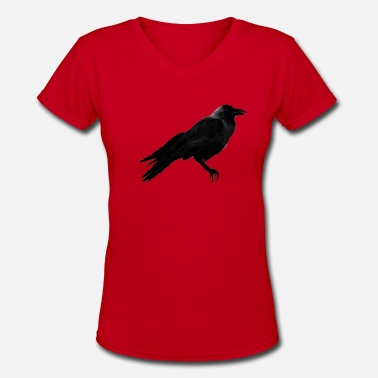 Crowes Crow - Women's V-Neck T-Shirt