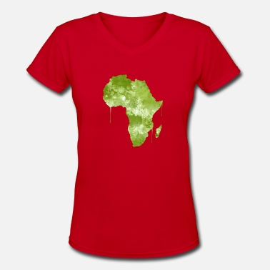 Africa Africa - Women's V-Neck T-Shirt