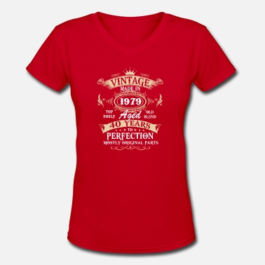 1979 Vintage 1979 40 Years Perfectly - Women's V-Neck T-Shirt