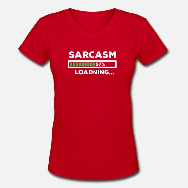 Sarcasm Kids Sarcasm - Women's V-Neck T-Shirt