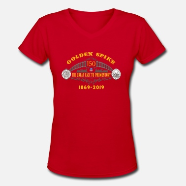Golden Spike Color UP Logo - Women's V-Neck T-Shirt