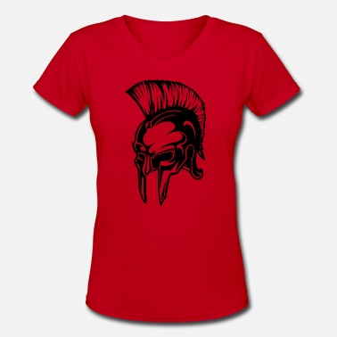 Spartan Crossfit Spartan Warrior Helmet - Women's V-Neck T-Shirt