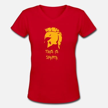 Sparta THIS IS SPARTA - Women's V-Neck T-Shirt