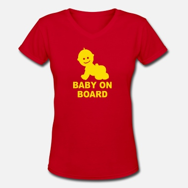Baby On Board Baby On Board - Women's V-Neck T-Shirt