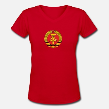 East Germany National Coat Of Arms Of East Germany - Women's V-Neck T-Shirt