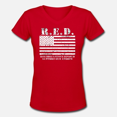 Afghanistan Syria Red Friday Wear Red On Friday - Women's V-Neck T-Shirt