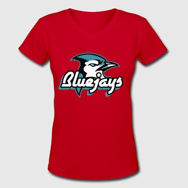 Blue Jay Blue jay Bird - Women's V-Neck T-Shirt