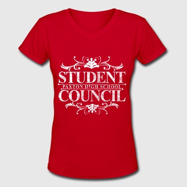 Paxton STUDENT PAXTON HIGH SCHOOL COUNCIL - Women's V-Neck T-Shirt