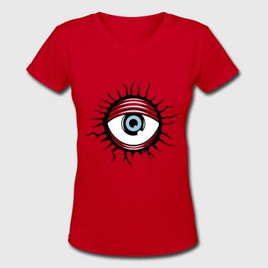 Demonic eye - Women's V-Neck T-Shirt