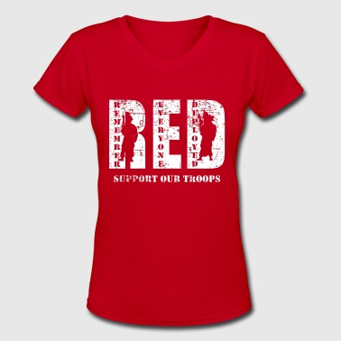 Red Friday Wear Red On Friday - Women's V-Neck T-Shirt