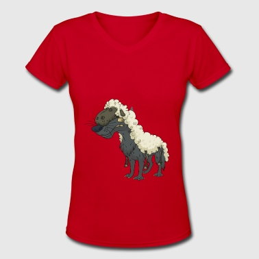 Wolf Sheep - Women's V-Neck T-Shirt