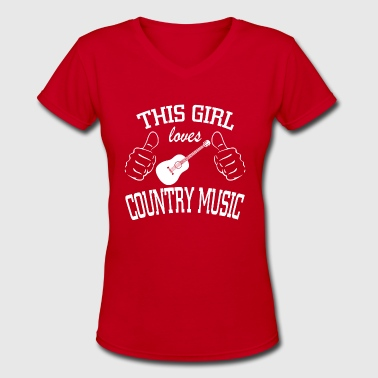Country Music - Women's V-Neck T-Shirt