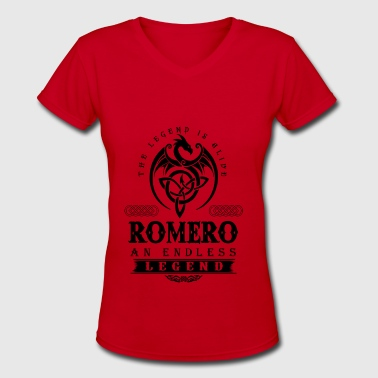 George A Romero ROMERO - Women's V-Neck T-Shirt