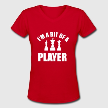 Chess Clothes player chess - Women's V-Neck T-Shirt