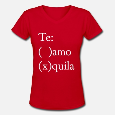 Whiskey Tequila Tequila - Women's V-Neck T-Shirt