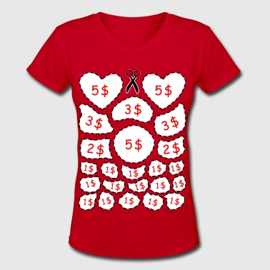 Bachelor & Bachelorette Party cut out game - Women's V-Neck T-Shirt
