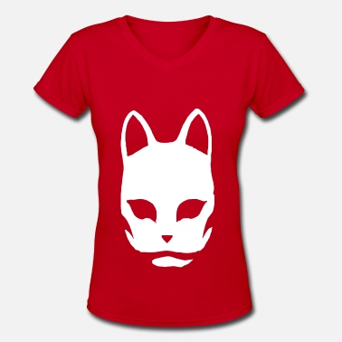 Kabuki Kabuki Mask Invert - Women's V-Neck T-Shirt