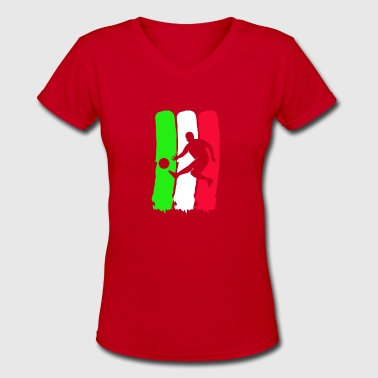 Football Player of ITALY - Women's V-Neck T-Shirt