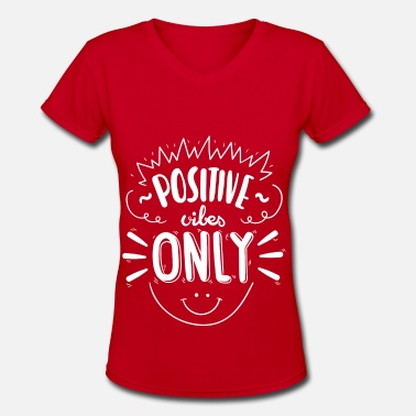 New Year positive vibe only - Women's V-Neck T-Shirt