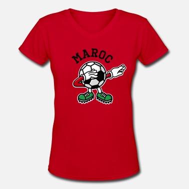 b6de65657be Funny Morocco Maroc Morocco dab dabbing soccer football - Women's V-.  Women's V-Neck T-Shirt. Maroc Morocco dab dabbing soccer football