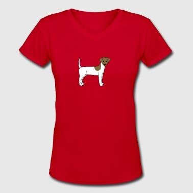 Fox Terrier - Women's V-Neck T-Shirt