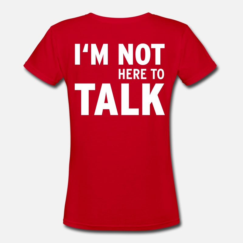Body Builder T-Shirts - I'M Not Here To Talk (Vektor) - Women's V-Neck T-Shirt red