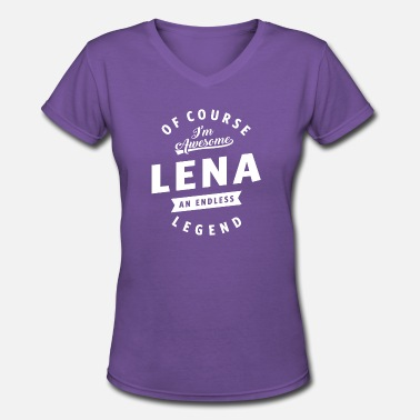 Lena Awesome Lena - Women's V-Neck T-Shirt